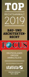 Focus-Siegel-TOP-Rechtsanwalt-2019-Bau-und-Architektenrecht